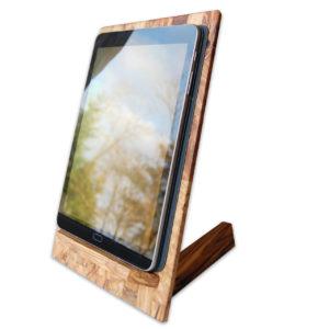 moderner-tablet-halter-aus-olivenholz